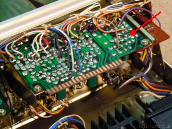 Sony TA 1140 Inside Detail Preamplifier Board 2SC634A Marked