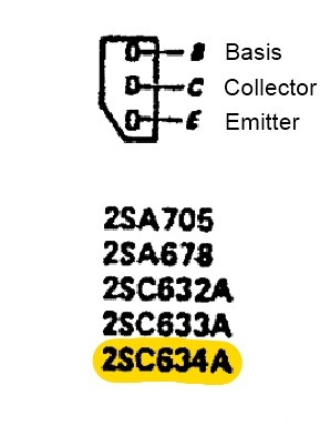 Sony TA 1140 Transistor 2SC634A Pinout In Power Supply Regulation