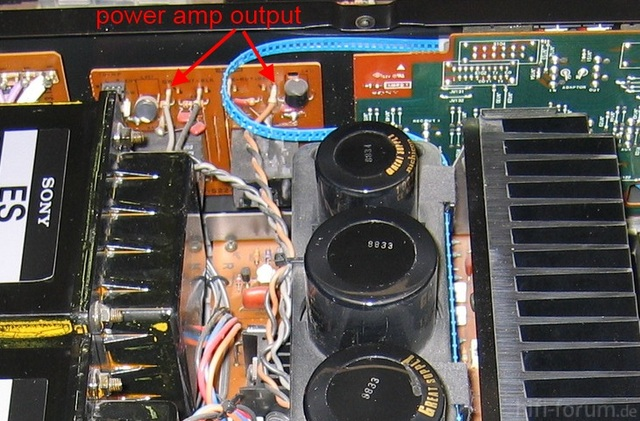 Sony TA F800ES Inside Detail Speaker Terminal Board