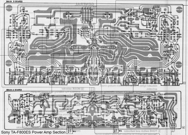 Sony TA-F800ES PCB Layout Detail Power Amp