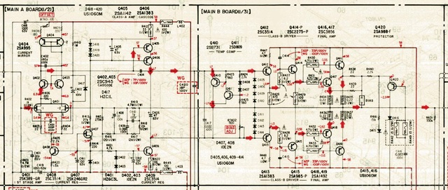 Sony TA F800ES Schematic Detail Power Amp Left Channel