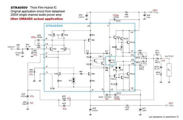 STK4050V Application In Uher UMA400 Power Amplifier V1