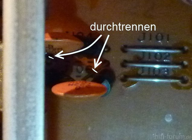 Taking out the Phono Input Filter with ceramic capacitor of 2.2nF