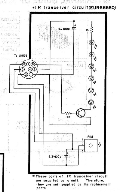 Technics SA E10 Schematic Detail IR Transceiver Circuit Remote Part