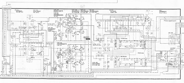 Technics Su V660 Schematic Detail Power Amp