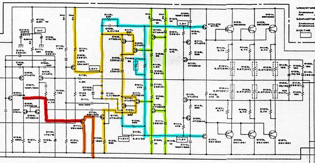 Uher UMA 2000 Schematic One Channel  Marked