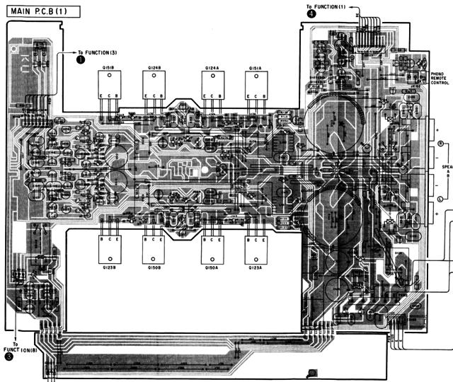 Yamaha AX-590 PCB layout main amp