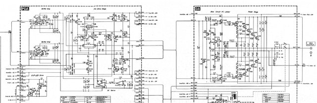 Yamaha PC2002M Power Amp Partial Schematic