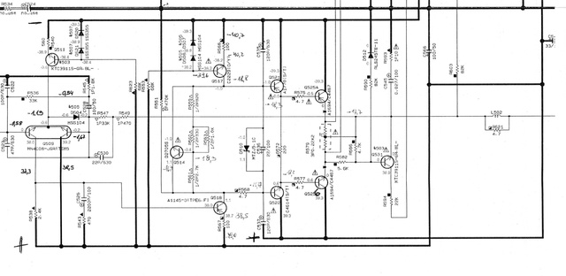 Yamaha R-840 mit Defekt Messwerte der Spannungen im Schaltplan_984770