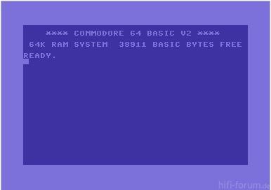 Einschaltmeldung C64