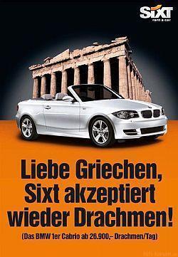 Griechen Anzeige Von Jung Von Matt Sixt War Schon Mal Besser Halfpanorama