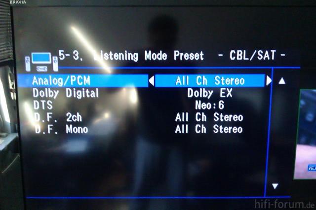 Listening Mode Presets TV