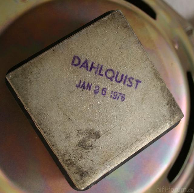 Dahlquist DQ10a - Tieftöner, Rückansicht