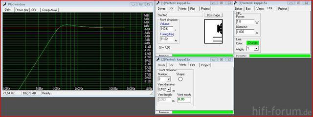 Simulation Kappa15a Bei Ca 140 L Und 51,82hz