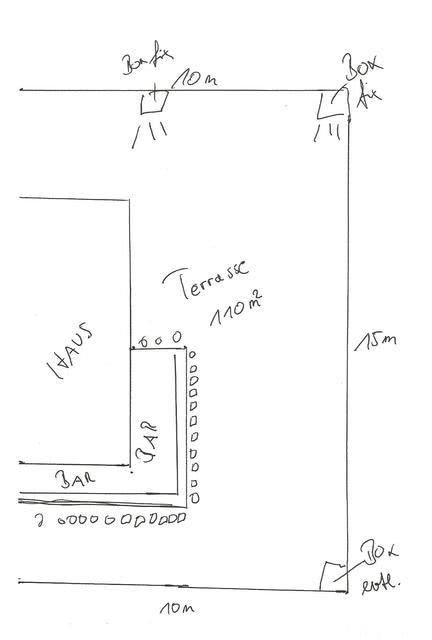 Skizze Terrasse