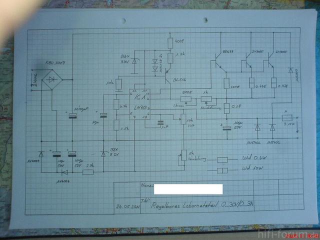 Schaltplan Labornetzgerät
