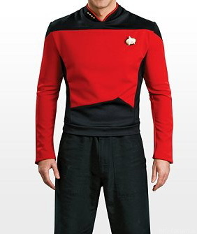 107239 Star Trek The Next Generation Uniform Red Star Trek The Next Generation Uniform Rot