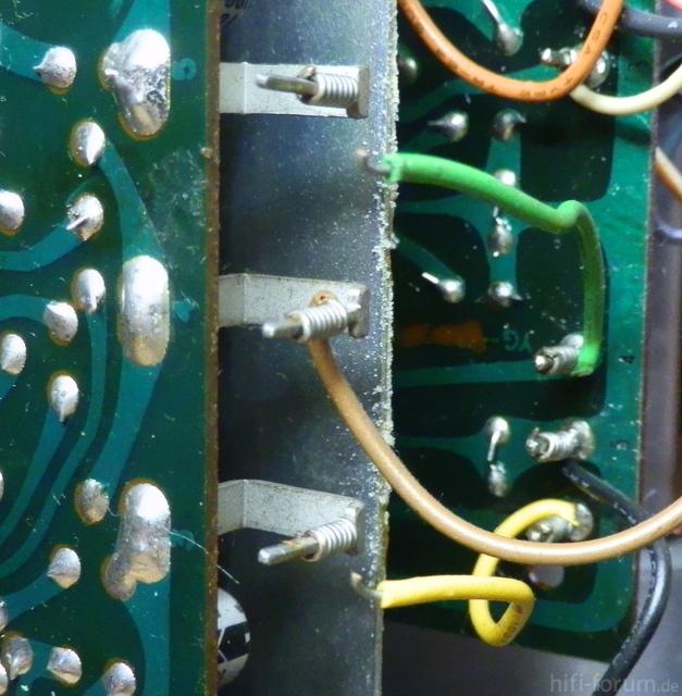 Defekte Signalleitung