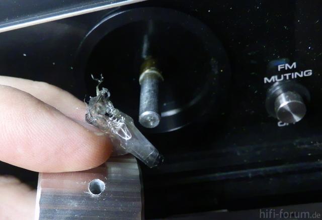 Drehknopf ausgebuddelt