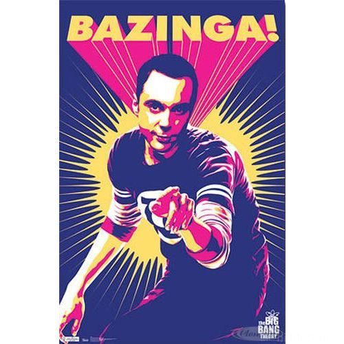 695 Large  The Big Bang Theory Poster Bazinga