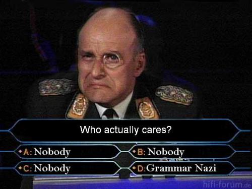 Grammar Nazi Oloremo