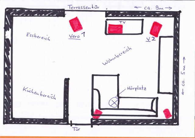 Grundriss Wohnbereich