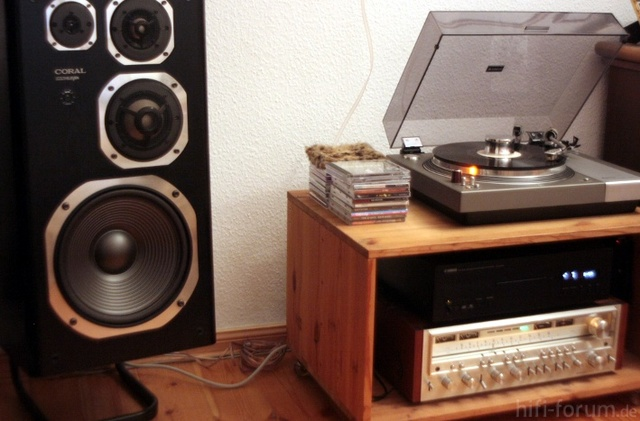 Yamaha CDS1000 - Coral DX11 - Pioneer SX1080 - Sanyo Tp1000