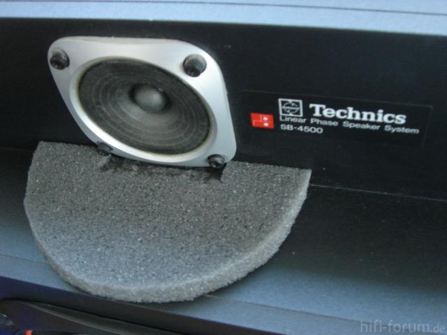 Technics SB-4500 Mit Neuem Schaumstoff