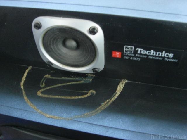 Technics SB-4500 Ohne Schaumstoff