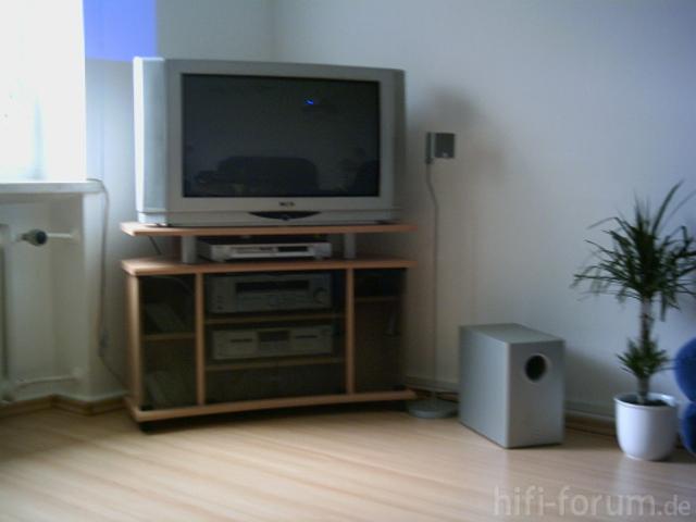 Mein Fernseher Und Teil Der Anlage