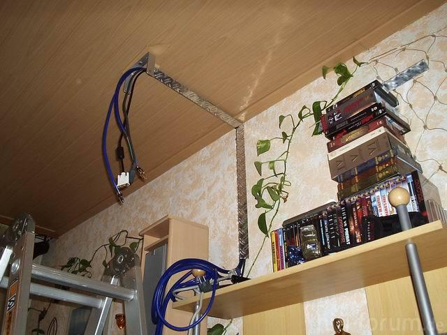 Beamer Vor Dem Anschluß Mit Kabel Kanal