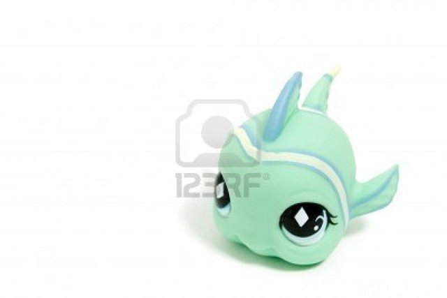 3510978 Cute Toy Fisch Mit Gro En Augen Isoliert Auf Weiss
