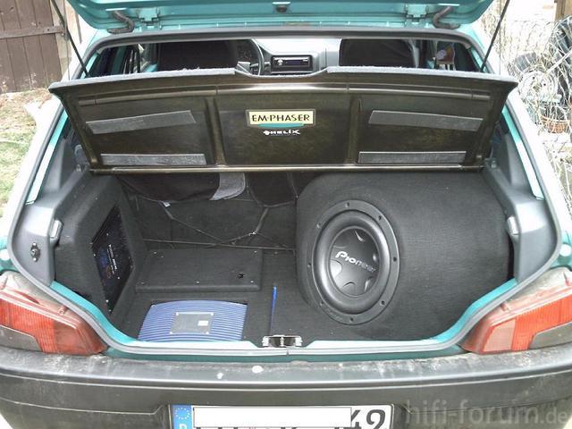 Kofferraumausbau Im Peugeot 106