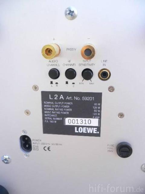 Anschlüsse Loewe L2A