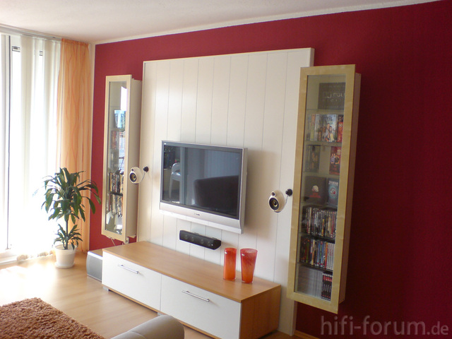 rote wand heimkino panasonic surround th42pv60 hifi bildergalerie. Black Bedroom Furniture Sets. Home Design Ideas