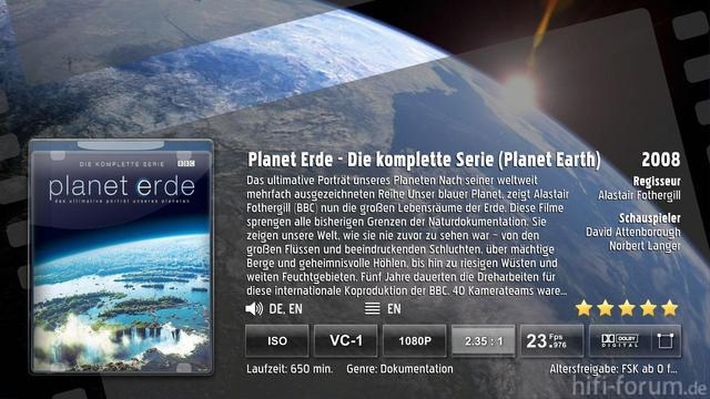 Planet Erde Backdrop 10430