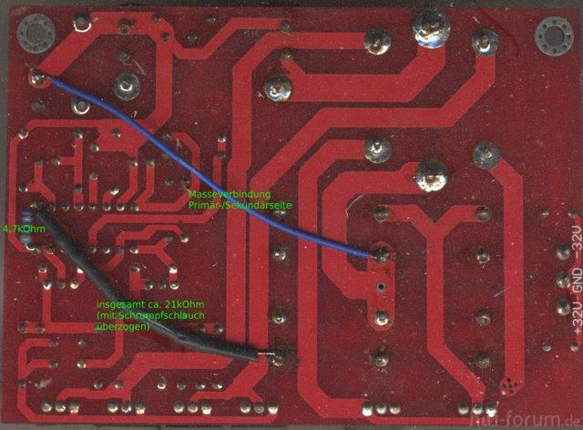 Modifizierte Netzteilplatine
