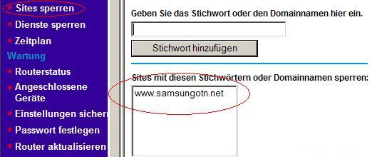 Block Samsung