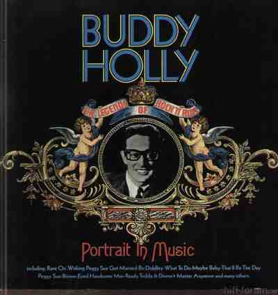 Buddy Holly Portrait In Music Blue Text