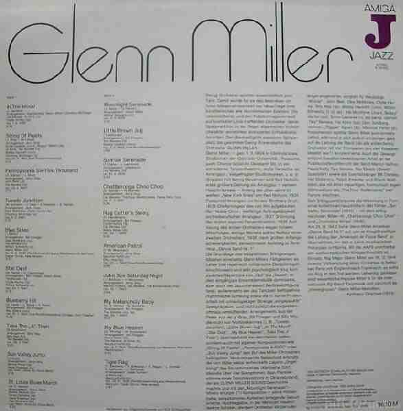 Glenn Miller Original Back