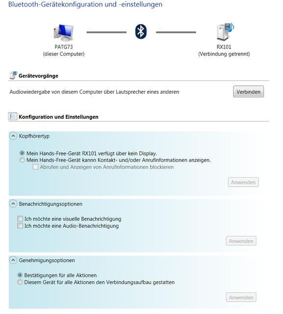 Windows 7 Marantz RX 101