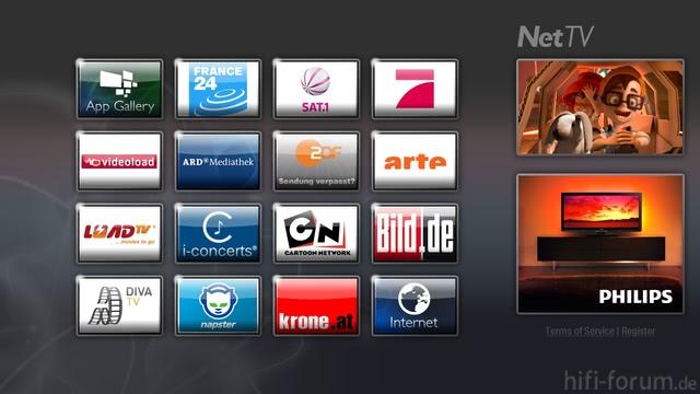 NetTVNeuer Startbildschirm Für D A CH