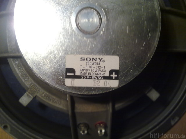 SONY Basslautsprecher