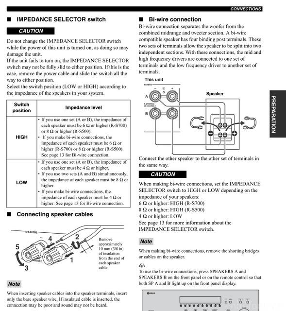 Yamaha R-S700 - Bi-Amping Frage, Verstärker/Receiver - HIFI-FORUM