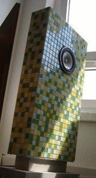 3. Bildserie VinYco Standlautsprecher Flat Mit Mosaik