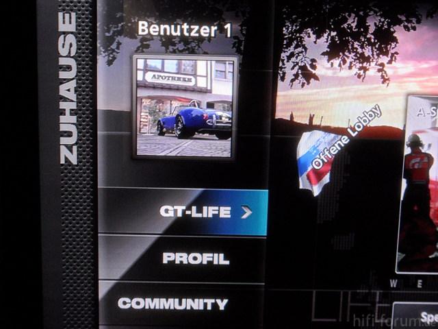 """GT5 GT-Mode Screen, Eingang Als """"Spiel"""" Gelabelt"""