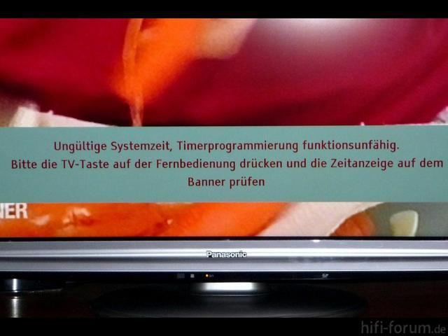 Fehlermeldung / Fehlfunktion Beim Pana. TX-L37 GF22