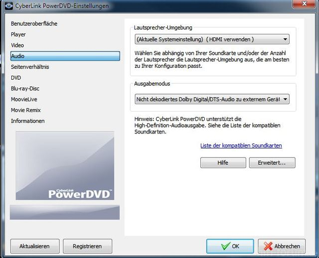 Power Dvd Einstellungen 1