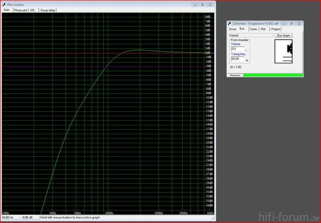 5 Liter, 65 Hz Abstimmung