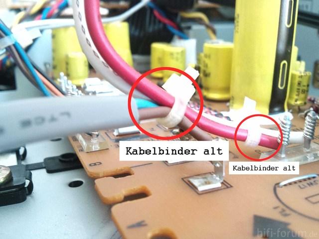 Akai GX 95 Stromkabel Kabelbinder Alt